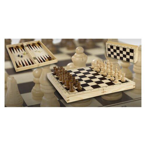 Estuche de ajedrez y damas