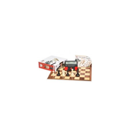 DGT Chess Starter Box Red (Tablero, piezas, CD y reloj)