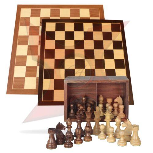 Conjunto Tablero 40x40 + Piezas de madera Staunton 5