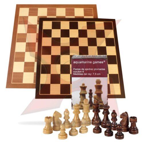 Conjunto Tablero 40x40 + Piezas de madera Staunton 4-5 Trainer
